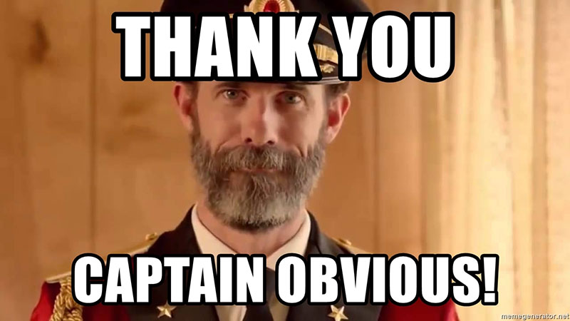 thank you captain obvious memes